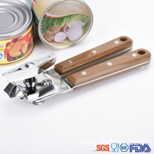 China for Safe Can Opener Pretty Drape Wooden color Handle Can opener supply to Portugal Suppliers